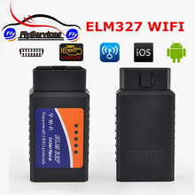 OBD2 Diagnostic Tool ELM327 WiFi OBDII ELM 327 Wireless Vehicle Scan Tool OBD2 WiFi ELM 327 For IOS Wireless Car Diagnostic Tool