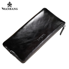 ManBang 2017 Men Wallet Long Designer Zipper Leather Male Purse Brand Mens Clutch Handy Bag Luxury Wallets Cell Phone Pocket(China)