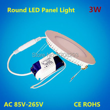wholesale 50Pcs/lot 3W 4W Round led panel lighting  Dimmable ceiling light,ultra thin kitchen lamp Downlight CE RoHS AC110V 220V