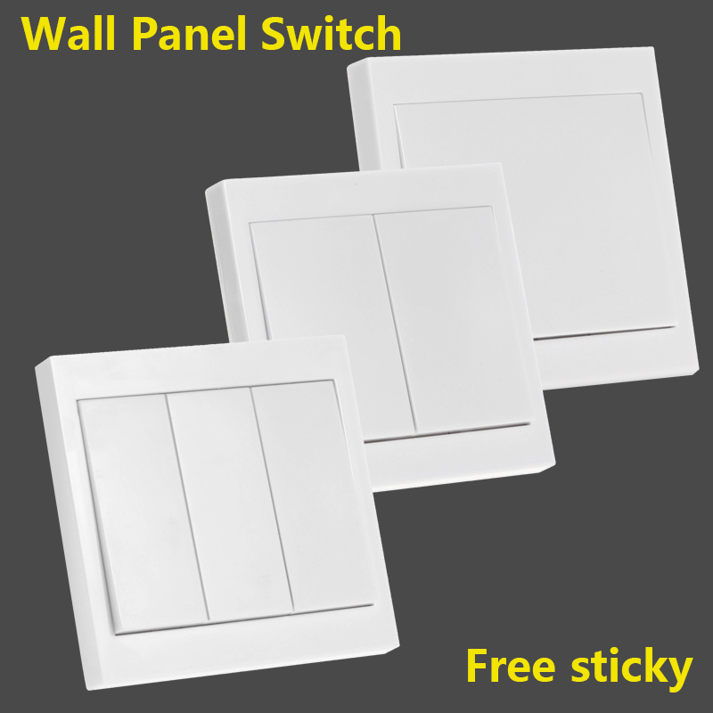 86 Wall Panel switch 1CH 2CH 3CH Free sticky wall panel remote control Sticky any where Transmitter 1 2 3 button(China)