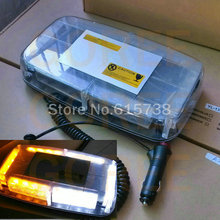 Car Roof led Flashing lamp Strobe Light Bar Emergency Beacon Alarm Roof Light 24 LED DC 12V Strobe Lightbar(China)
