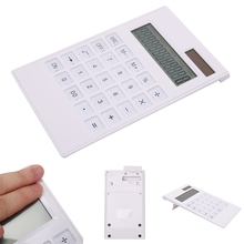 12 Digit Electronic Calculator Solar Calculator Business Work Calculate Commercial Tool Battery or Solar 2 in1 Powered