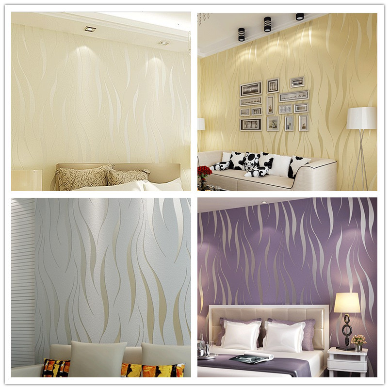 Modern Papel De Parede Embossed Wallpaper Living Room Bedding Feature