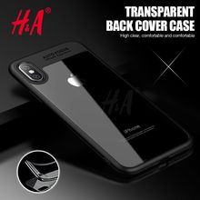 H&A Hard Clear Full Protective Case for iPhone X TPU & PC Ultra Thin Slim Cover for Apple iPhone X Case 10 Phone Coque(China)
