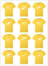 Hot sale spoof brand logo shirt high quality best cool men original T-shirt Glowed fashion men's clothing Top Seller yellow(China)