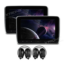"XTRONS 2pcs 10.1"" Car Headrest DVD Player Monitor radio PC HD Digital TFT Screen Touch Panel with HDMI Port with 2pcs headphones"