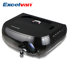 Excelvan W1 Multimedia Portable Projector 2800 LED Lumens For Home Cinema Theater Support 1080P DVD PC Tablet Smartphone