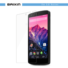 baixin HD Ultra thin Clear Tempered Glass Screen Protector For LG G3 G4 mini G3 G4 Stylus Leon V10 google Nexus5 protective film(China)