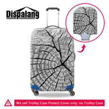 Dispalang Luggage Protective Cover For 18 to 30 inch Trolley Case Elastic 3D Wood Print Suitcase Covers Mens Travel Accessories
