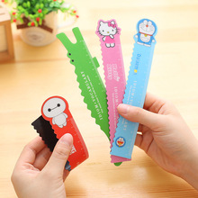 1 pcs magnetic bendable colorful cartoon kitty 15 cm magic student flexible tape measure Straight Ruler Office School(China)