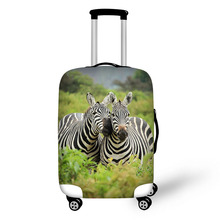 Prevent the impact to prevent scratches Prairie Animals pattern luggage case travel must be soft and durable non-slip