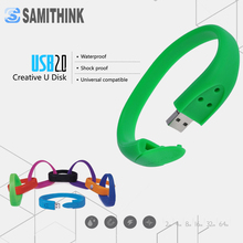 Silicone Bracelet USB Flash Drive Gift Pendrive High Speed USB 2.0 Flash Memory Stick Custom Pendrive 64GB 32GB 16GB 8GB 4GB 2GB
