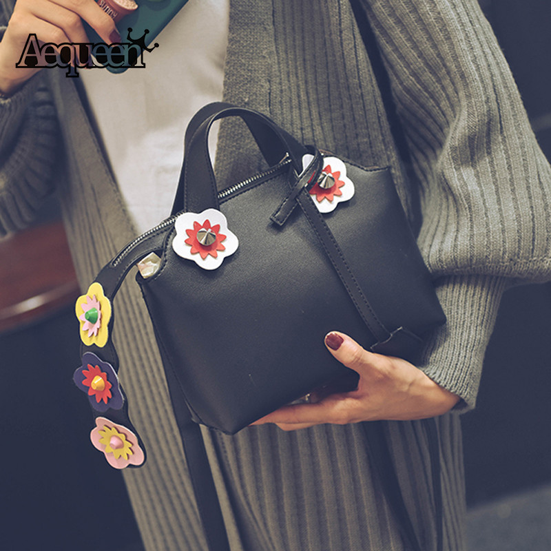 New Fashion Spring Women Leather Shoulder Bags High Quality Messenger Bag Flowers Boston Bag Handbag Crossbody Bags<br><br>Aliexpress