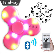 Luminous Fidget Spinner Wireless Bluetooth Speaker led light  Glow in the dark Column for iphone Xiaomi Huawei fone de ouvido