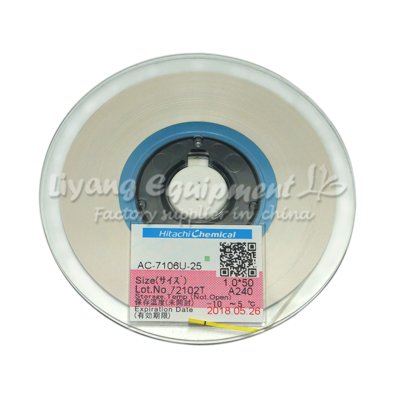 Original ACF tape AC-7206U-18 PCB Repair TAPE 2MM*50M latest Date for pulse hot press flex cable machine use<br>
