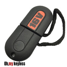 Replacement transponder key shell for vw gtd gti 16v jetta chip key case with light