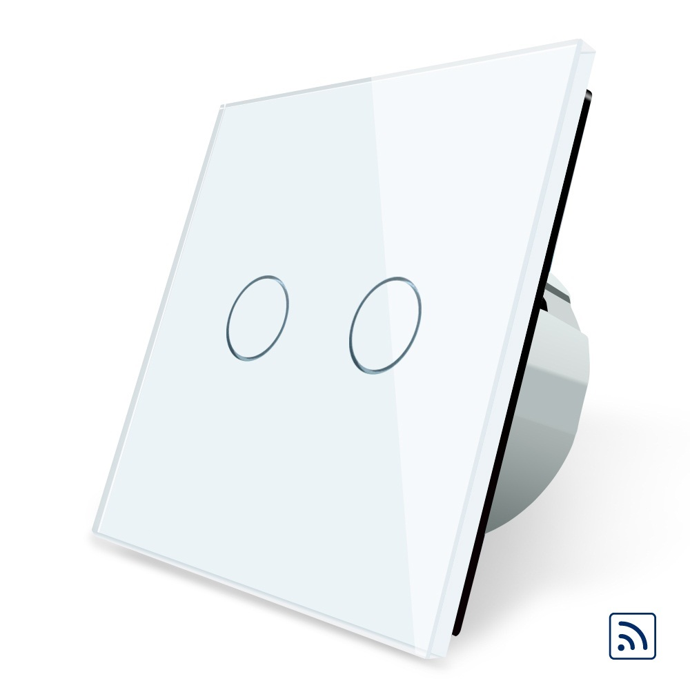 Smart Switch, Black Crystal Glass Panel, 2017 EU Standard Remote Switch, 220~250V Wall Light Remote Touch Switch<br>