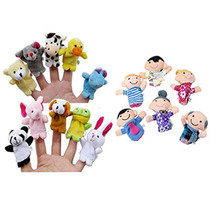 Baby 16PC Finger Puppets Animals People Family Members Educational fashion Funny Toy Charm Gift B# dropshipping(China)