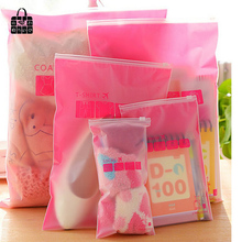 8pcs/sets Transparent waterproof Clothes socks/underwear bra shoes storage bag travel Wash protect cosmetics plastic storage bag(China)