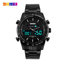 Tactical Skmei 1131 Mens Dual Display Watches LED Anlong Digital Quartz 50M Waterproof Wristwatch Travel Kits