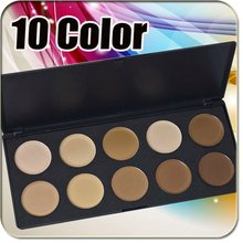 Pro 10 Colors Cream Concealer Foundations Palette Cosmetic Makeup Palette Free Shippping Wholesales 10sets/lot