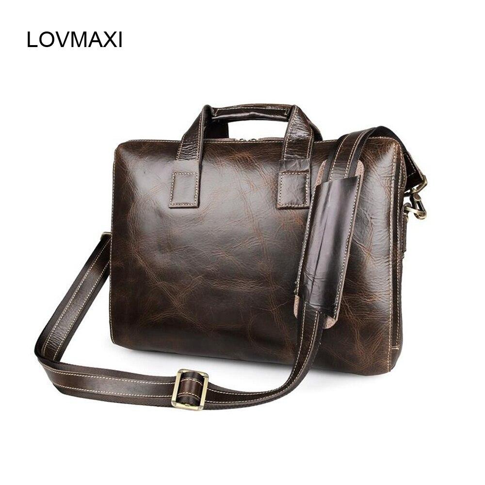 2016 new Fashion Mens briefcases business bags messenger bag Male genuine cow leather handbags laptop shoulder bag crossbody<br><br>Aliexpress
