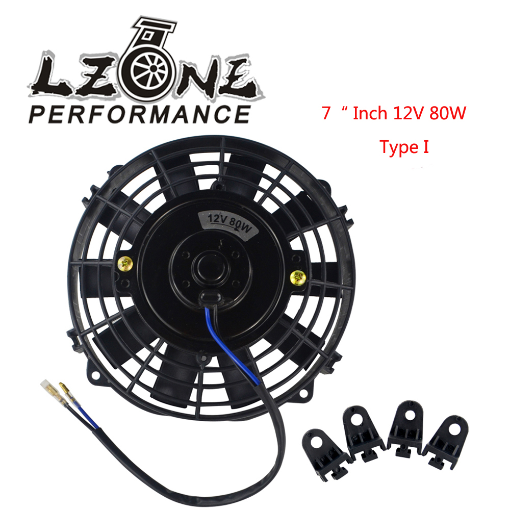 """Push Radiator Cooling Fan 7/"""" Inch 12V Universal Electric Pull Mounting Kits"""