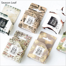 9 Patterns Retro Ticket newspaper Postmark Nostalgic Washi Tape DIY Decoration Planner Scrapbook Sticker Label Masking Tape