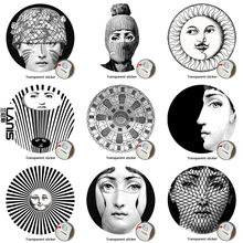 NO.169-196 Designer Fornasetti Wallpaper Transparent Stickers Wall Stickers For Wall Decoration Living Room 1PCS