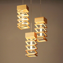 Contemporary Lighting Lamps Wood 60cm Adjustable Hanging Line Bedroom Modern Pendant Lamps Creative D72
