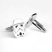 Movie Accessories Jewellery Tie Clip Darth Vader Star War Swank Novelty Cufflinks Shirt Suit Cuff Buttons Pins Men Cufflink