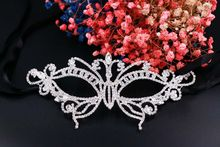 2017 New Fashion Metal Butterfly Mask, European and American Make-up Ball, Venice Mask with Crystal Rhinestone Weding Party Mask