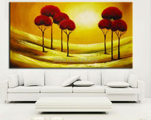 arts and crafts best selling handmade items Canvas Oil Painting trees Abstract Painting sunset oil painting on canvas for wall