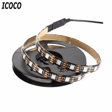 ICOCO USB5V 5050RGB IP65 Waterproof Tape Light USB Interface TV Background Light Bright Stage Decoration Light Strip Light(China)