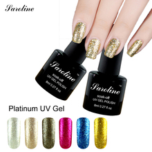 Saroline Platinum Gel Shining Nail Gel Polish UV Fingernail Gel Soak off LED UV lucky Color Gel Long-lasting cheap