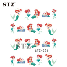 1Sheets Nail Art Sticker NEW Designs Fairy Tale Fish Beautiful Girl of Water Transfer Decals Nail Decorations Polish Tips STZ226