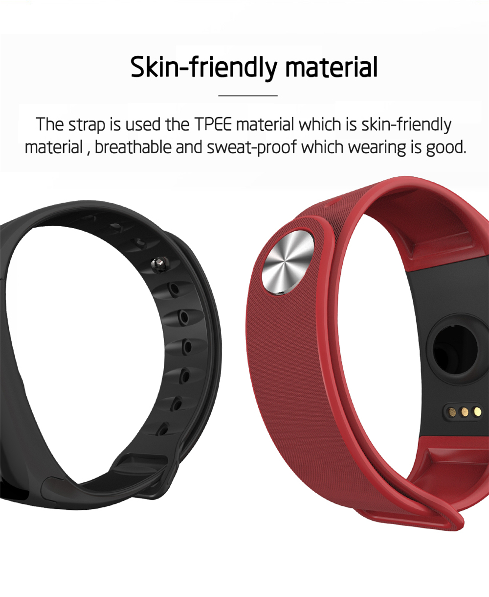 EXRIZU F1S Smart Wristband Blood Pressure Heart Rate Monitor Smart Bracelet Women Men Sport Band Fitness Tracker for Android iOS 13