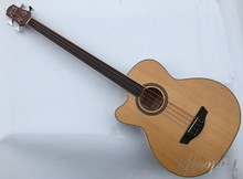 high quality left hand acoustic bass guitar with eq with tuner(China)