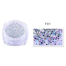 1Box Nail Glitter Powder Mixed Symphony Pearl 3D Nail Art Manicure Decal Tips Women Beauty Nail Salon DIY Tool Kits Accessories(China)