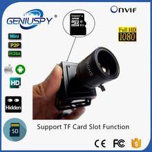 GENIUSPY 1080P HD 2MP Micro ipcam Support SD & TF Card Onvif Home& Industry USE Indoor Survillance Camera 9-22mm Lens