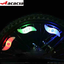 ACACIA 2017 Bicycle Lights Silicone Bike Spoke Wheel Light Cool Flash light for Bike Safe Warning at Night Bicycle Accessories(China)