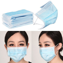 Disposable 3-Ply Earloop 50pcs Medical Face Mouth Masks Dental Nail Health Masks For Unisex Products Blue White Color Random P2