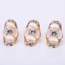 Retro Large Natural Stone Party Rings Vintage Unique Opal Rings Women's Accessories Jewelry Female Punk Retro Boho Wedding Rings