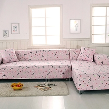 2pcs Universal Stretch Sofa Covers 100% Polyester Corner Sofa Covers For Living Room Multi-size L Shape Sofa Slipcovers