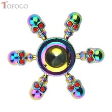 Buy TOFOCO Stress Fidget Spinner Metal Rainbow Skeleton Hand Spinner Zinc Alloy Toys Anxiety Stress Adults Kid Figet spiner Spynner for $7.75 in AliExpress store