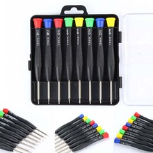 "8 in 1 Precision Pocket Mini Screwdriver Repair Tools Set for Mobile Cell Phone 4.72"" x 4.72"" x 0.98"" Eight Different Types(China)"
