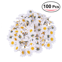 100pcs Artificial Gerbera Daisy Flowers Heads DIY Cake/Wedding Decoration Artificial Flowers Craft(China)