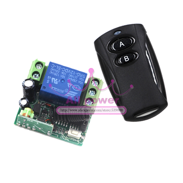 315/433MHZ 12V 1CH 1Transmitter 1Receiver remote control light on off switch Momentary Toggle Latched with Relay indicator<br><br>Aliexpress