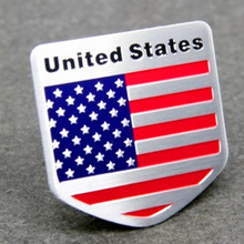 1pcs Car Styling The United States American Flag Car stickers For Cadillac Buick Chevrolet Lincoln Chrysler Jeep Dodge Focus(China)