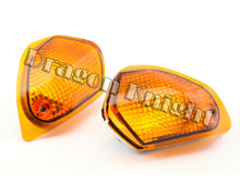 Motocycle A Pair Of Turn Signals Indicator Light Blinker Lens Rear For KAWASAKI ZZR 400 600 ZX600E 1994-2004 Amber
